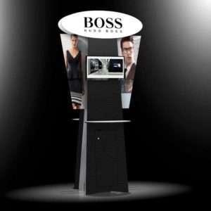 Modular Kiosk for exhibitions