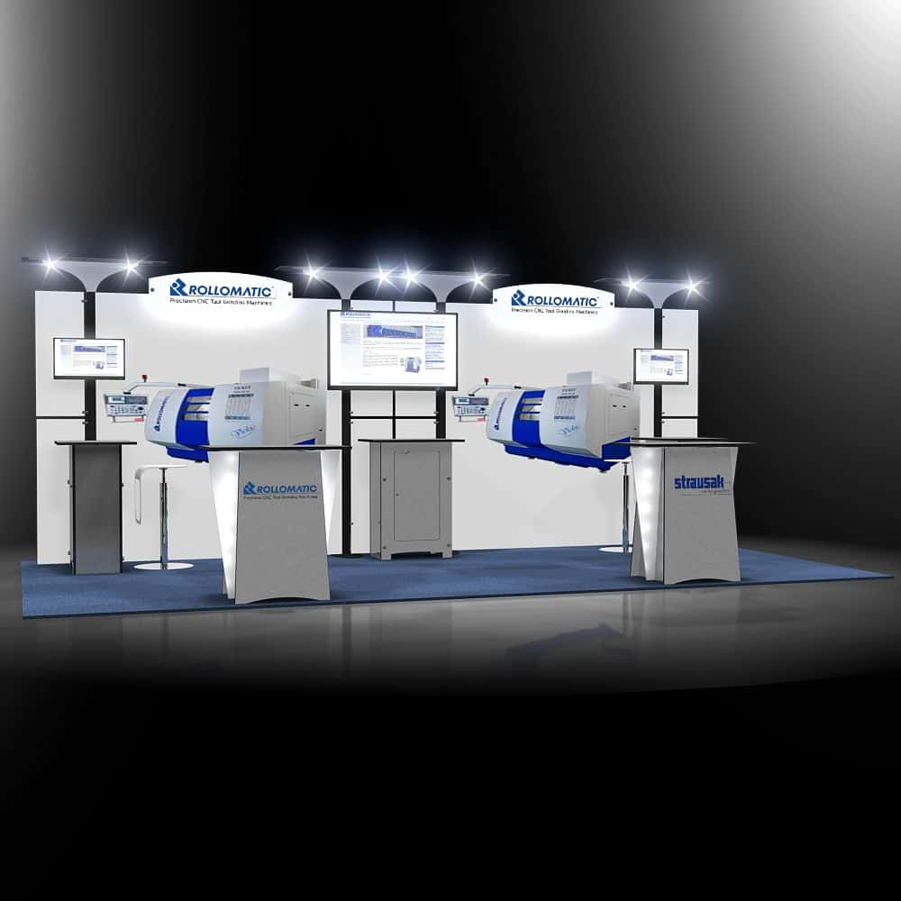 10x20 Trade Show Booth For Rollomatics