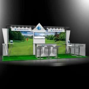 Unique 10x20 trade show rental booth in Las Vegas
