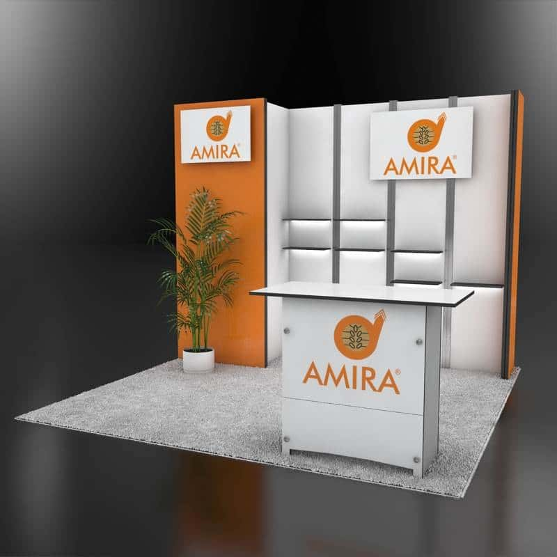 custom world wide booth design