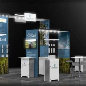 20x20 rental display for trade shows in Las Vegas