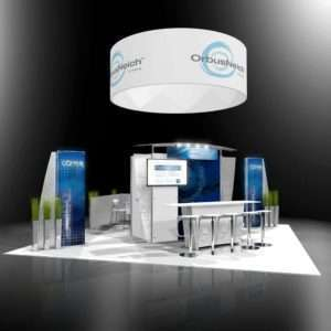 20x20 rental trade show booth and exhibits