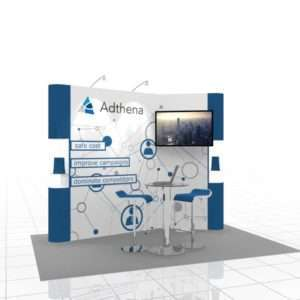 Modular trade show booth for 10x10 exhibitors