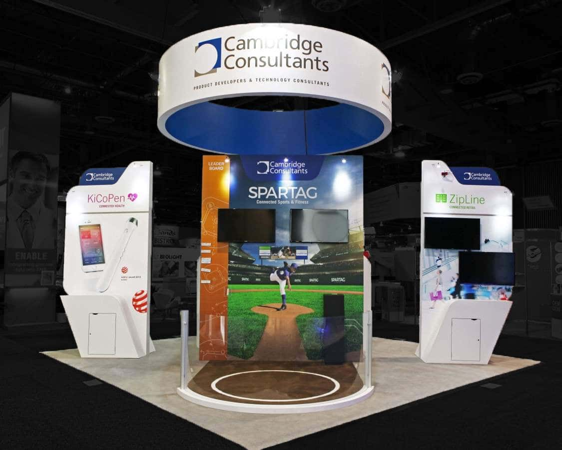 36 sqmtr exhibition stand at CES Las Vegas