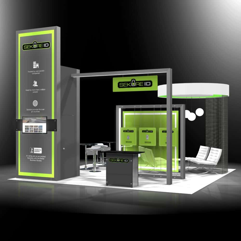 20x20 rental booth in ASIS Anaheim