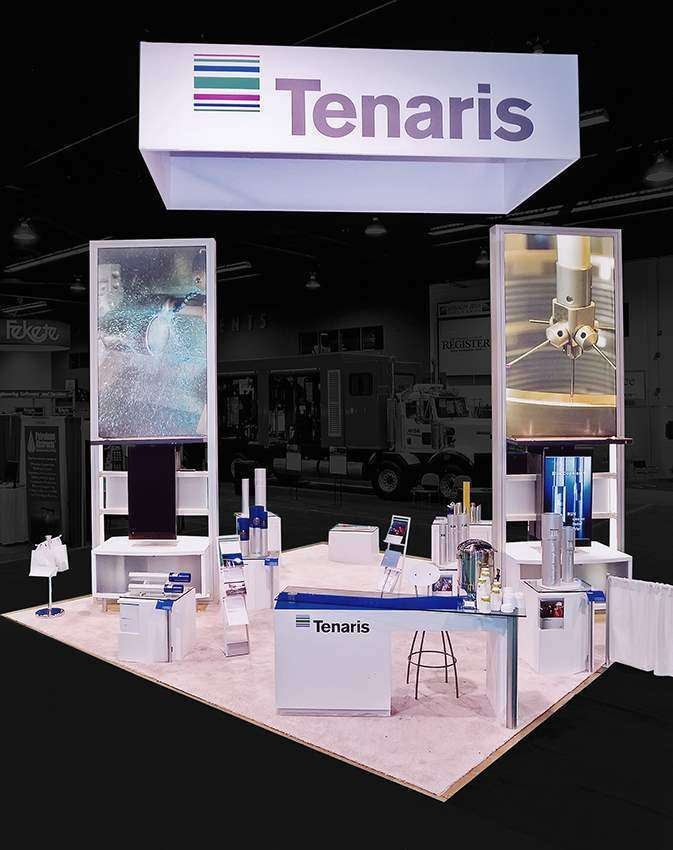 Custom exhibition stand design and build at infocomm orlando for Pool spa trade show las vegas