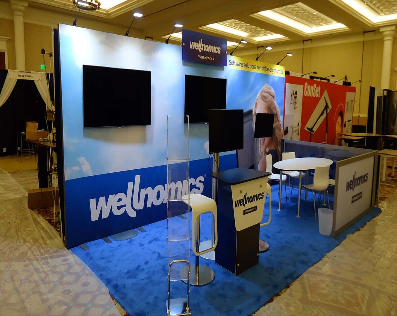 Portable Exhibition Display : Portable trade show booths i re configurable light weight