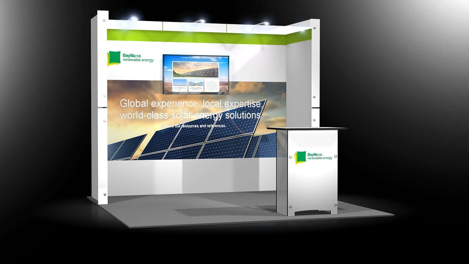 Modular Exhibition Booth : Portable trade show booth displays exponents
