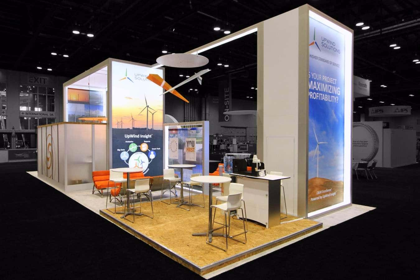 Exhibition Displays : Trade show booth rentals solution turnkey exhibit rental