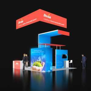 20x20 Exhibit Booth Rentals