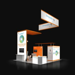 For eye-catching and well-built 20x20 booth rentals contact Exponents