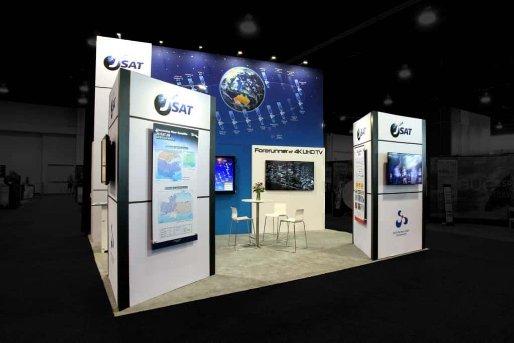 Exhibition Booth For Rental Sia : Jsat