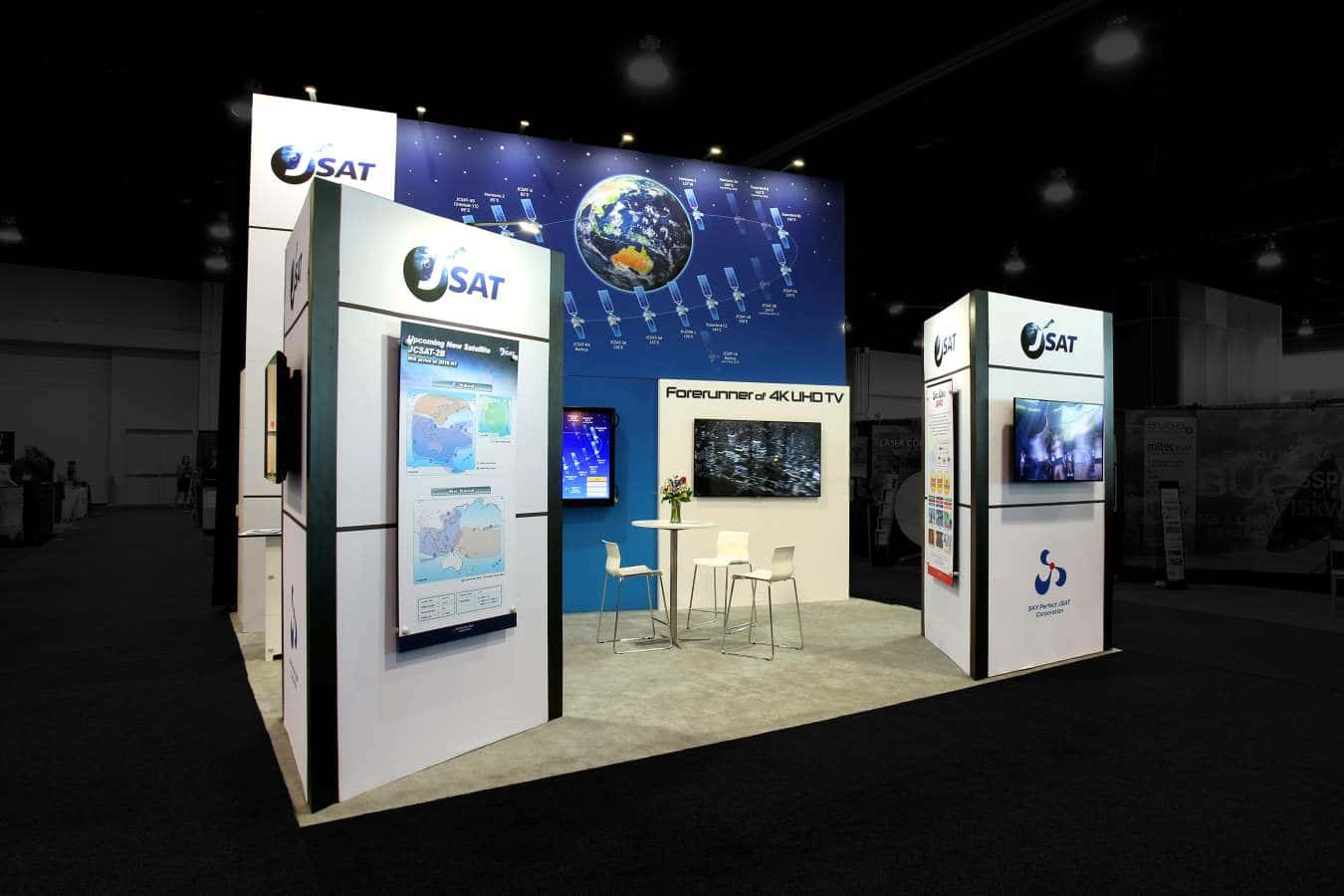 20x20 trade show rental booth @ Satellite Expo