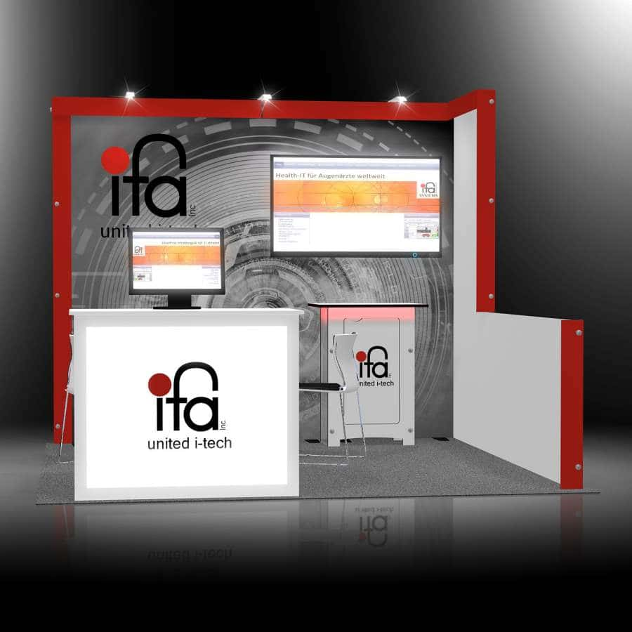 10x10 exhibit rental display