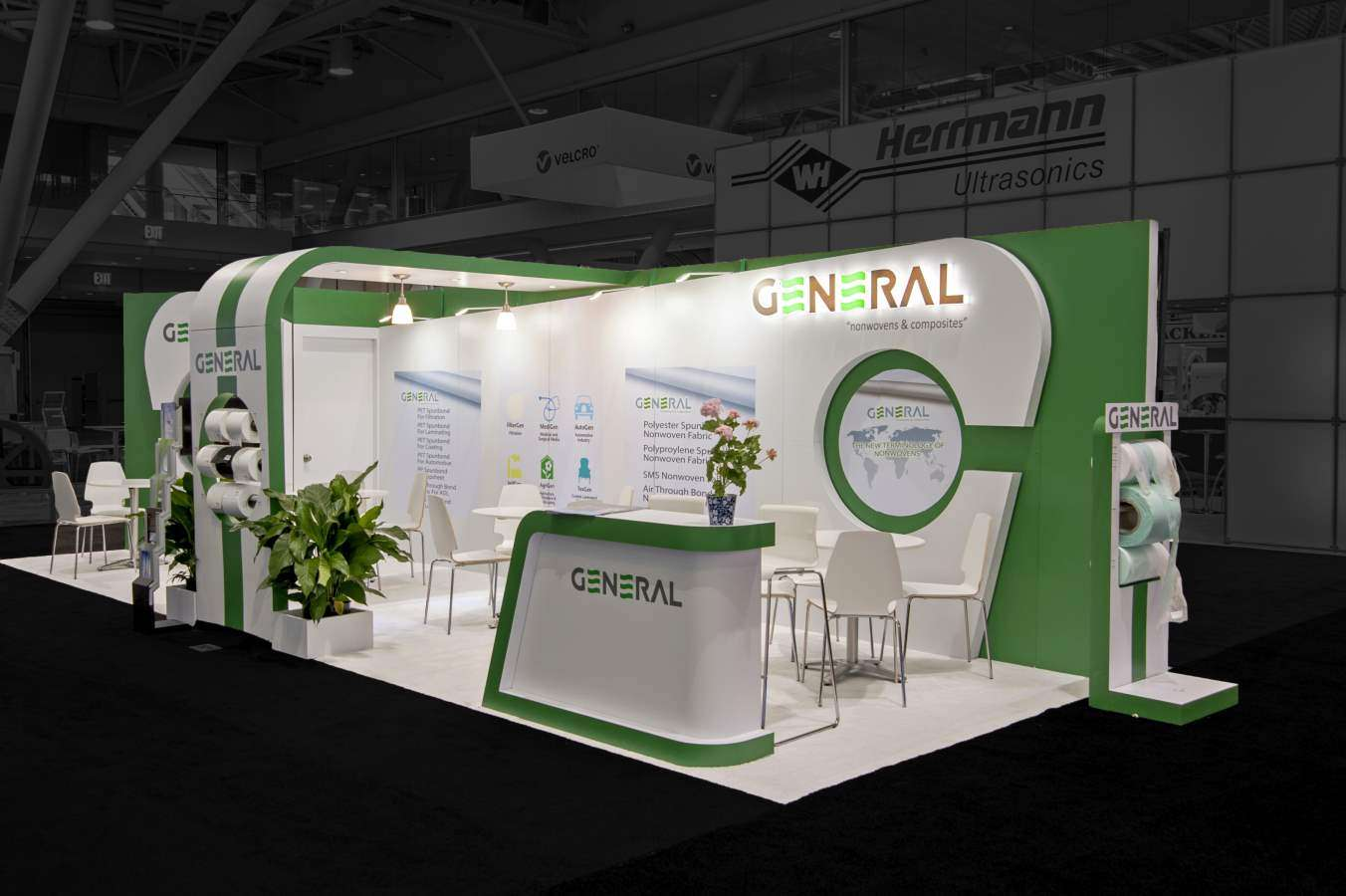 10x30 custom exhibition stand @ IDEA, Boston