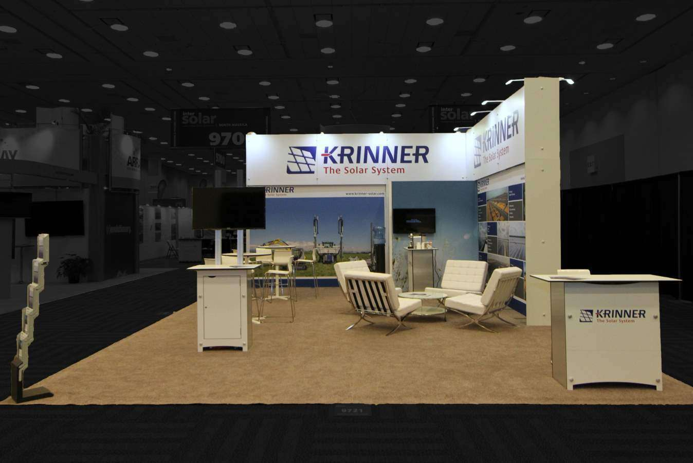 20x30 rental exhibition stand @ Intersolar , San Francisco