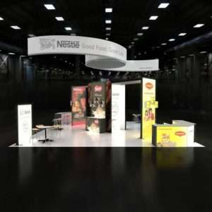30x30 trade show rental booth in Dallas