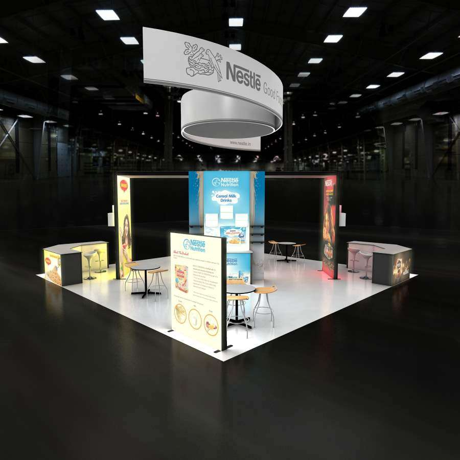 Nestle Exhibition Booth : Rlu  trade show booth rental i exponents