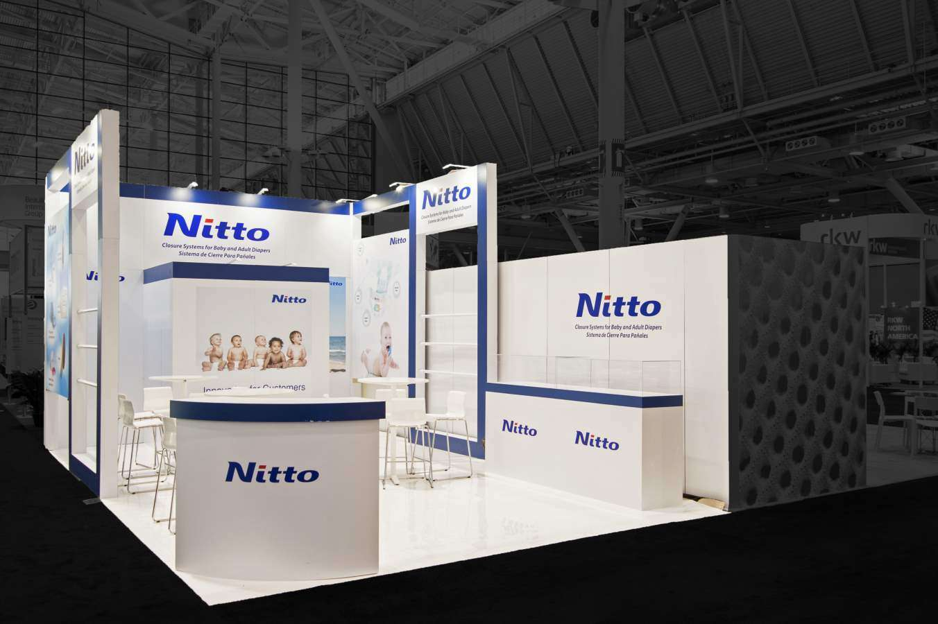 20x30 custom exhibition stand @ IDEA, Boston