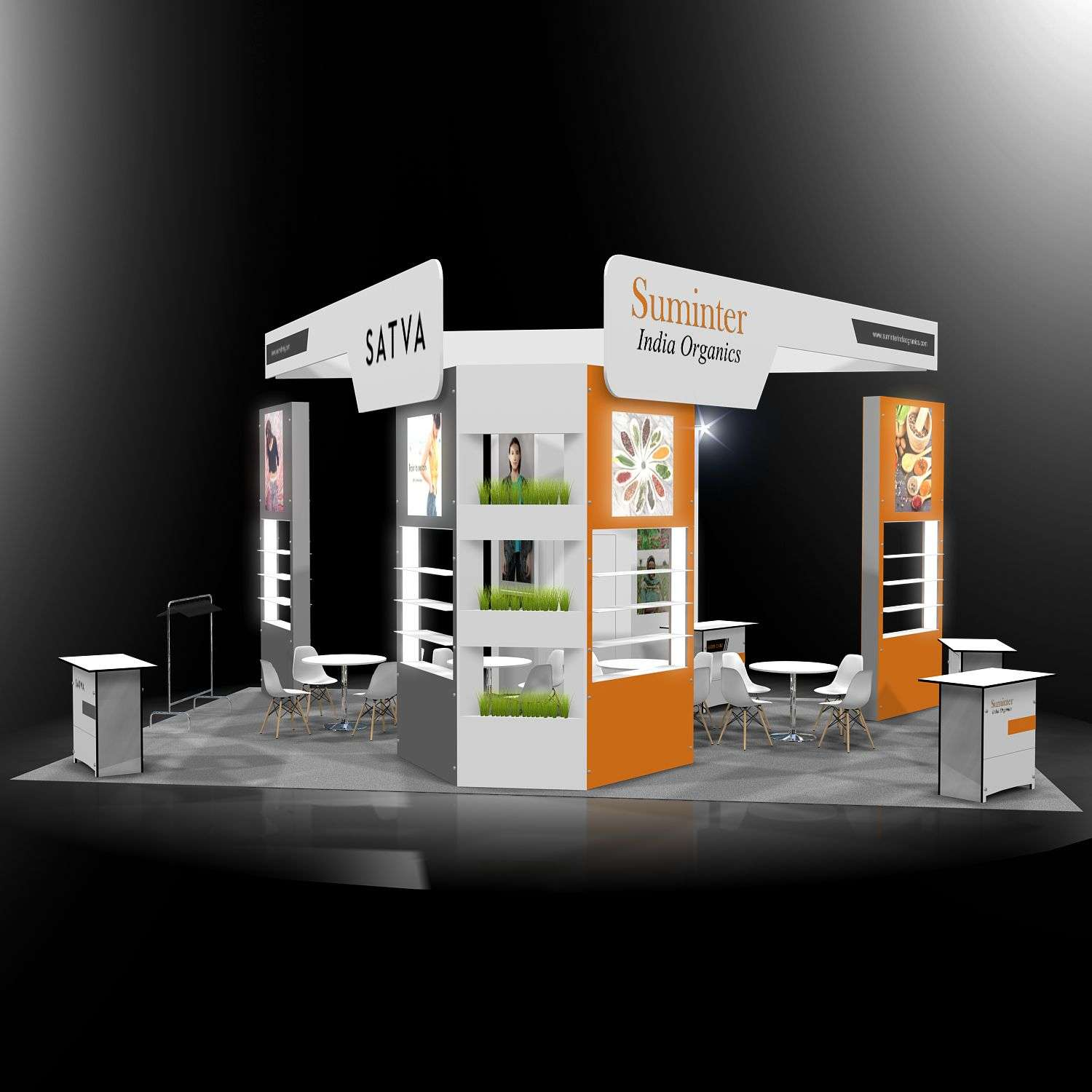 20x20 rental booth @ Natural Product expo east
