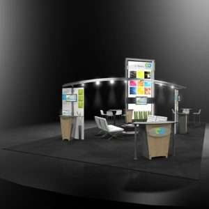 20x40 exhibition stand rental