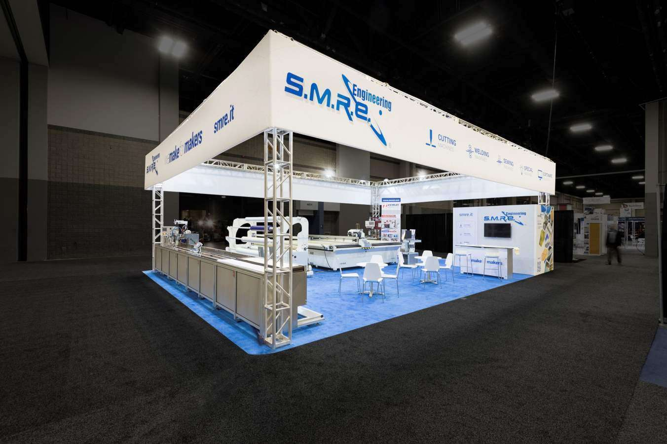 30x40 rental exhibit for smre at IFAI, Charlotte