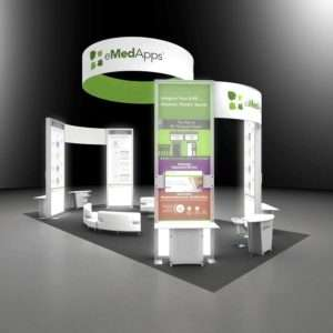 20x40 exhibition stand rental design