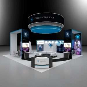 40x40 trade show rental booth