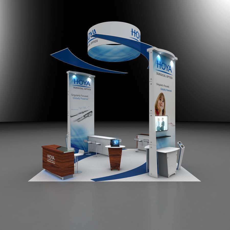 20x20 rental booth