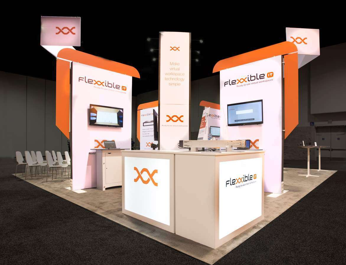 Exhibition A Booth : Trade show booth rentals solution rent turnkey exhibit