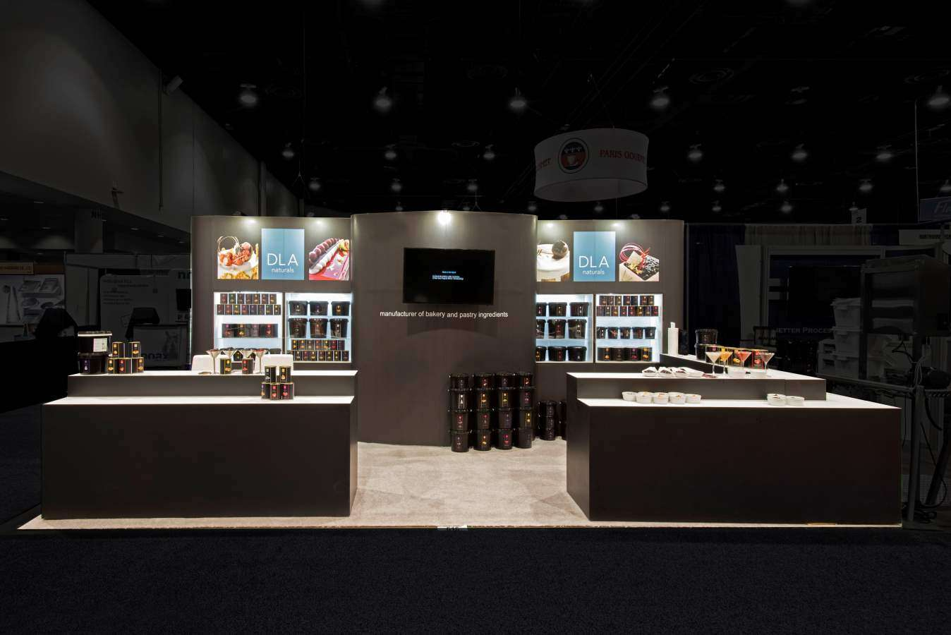 10x20 rental booth for DNA Naturals @ IBIE, las Vegas
