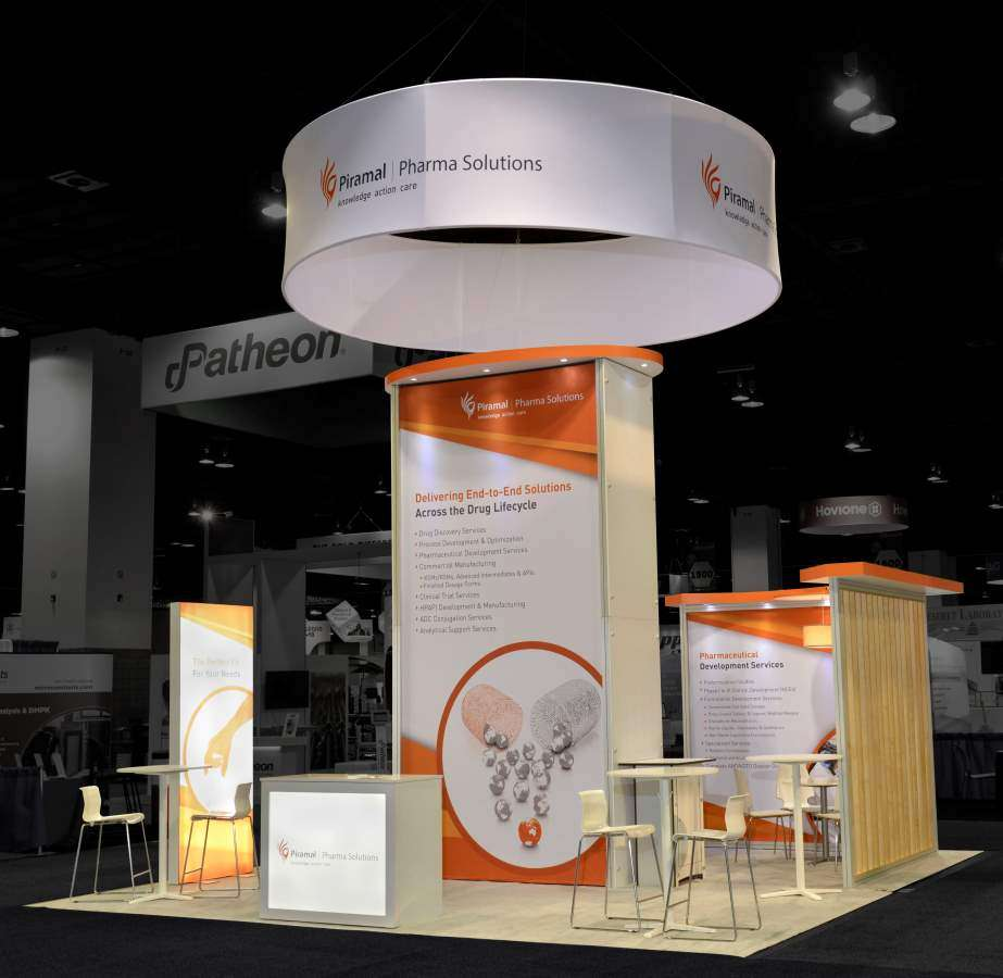 Piramal Healthcare 20x20 rental booth @ AAPS, Denver