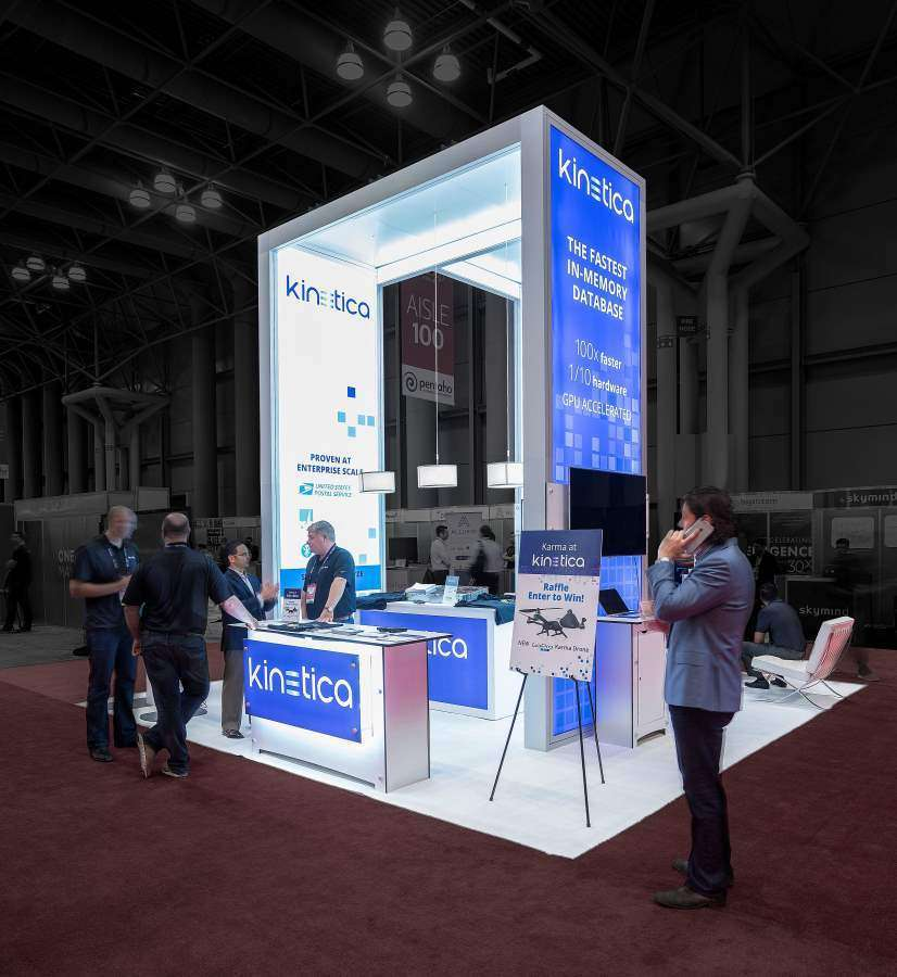 20x20 rental booth in newyork for kinetica