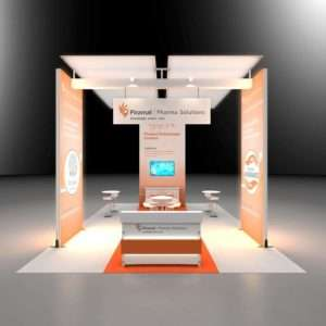 20x30 trade show rental booth in aaps show