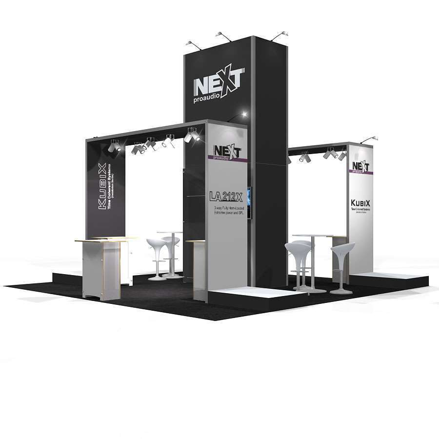 20x20 rental booth design