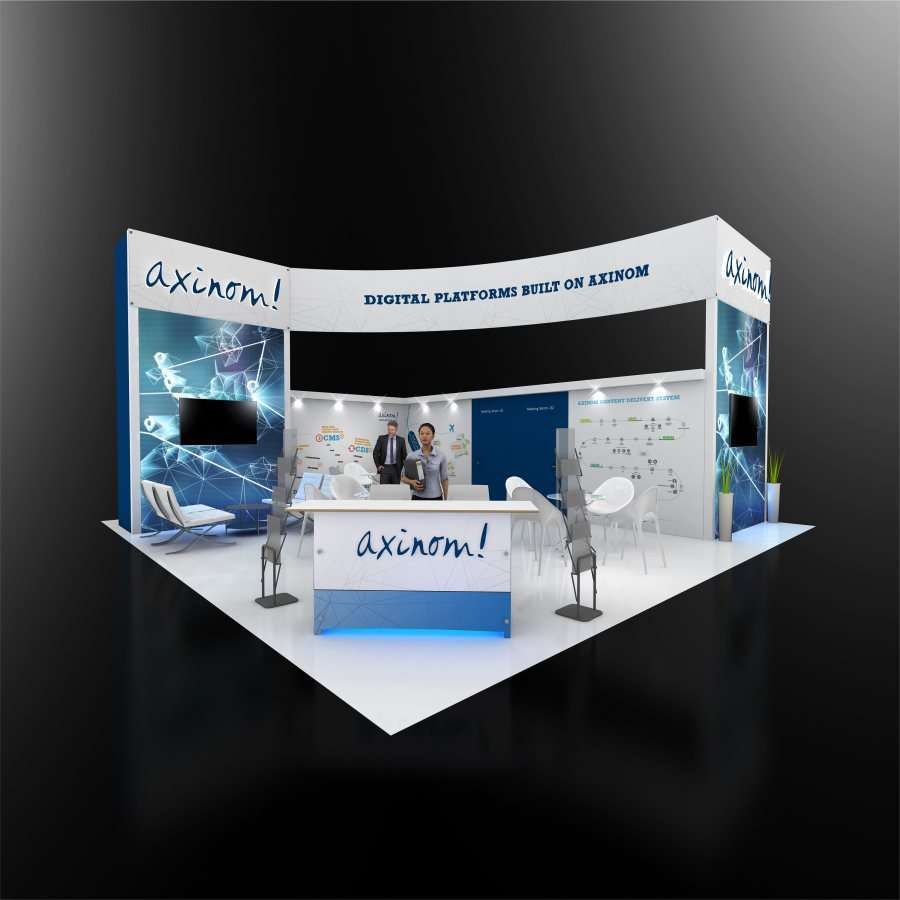 30x30 rental trade show booth
