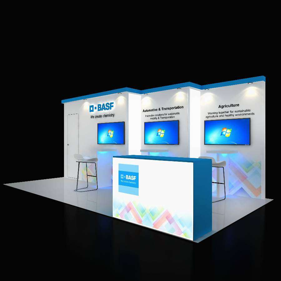 Trade Show Booth Graphics : Trade show booth design plu exponents