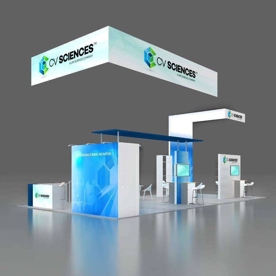 20x40 trade show rental booth rlu2040 27 for Pool spa trade show las vegas