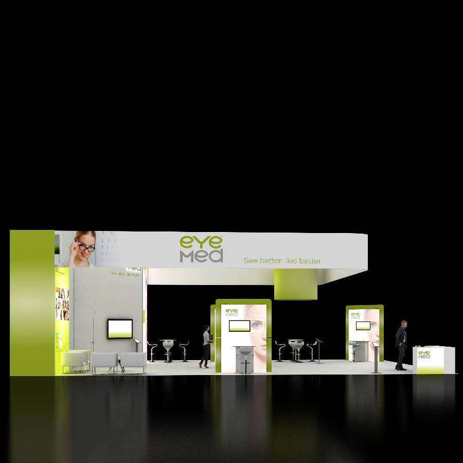 30x50 trade show rental booth rlu3050 10 for Housse 30x50