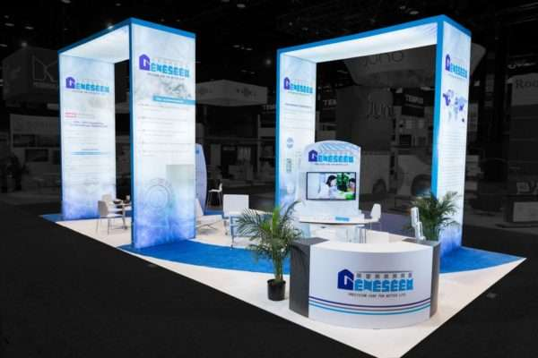 20x40 rental booth at ASCO, Chicago