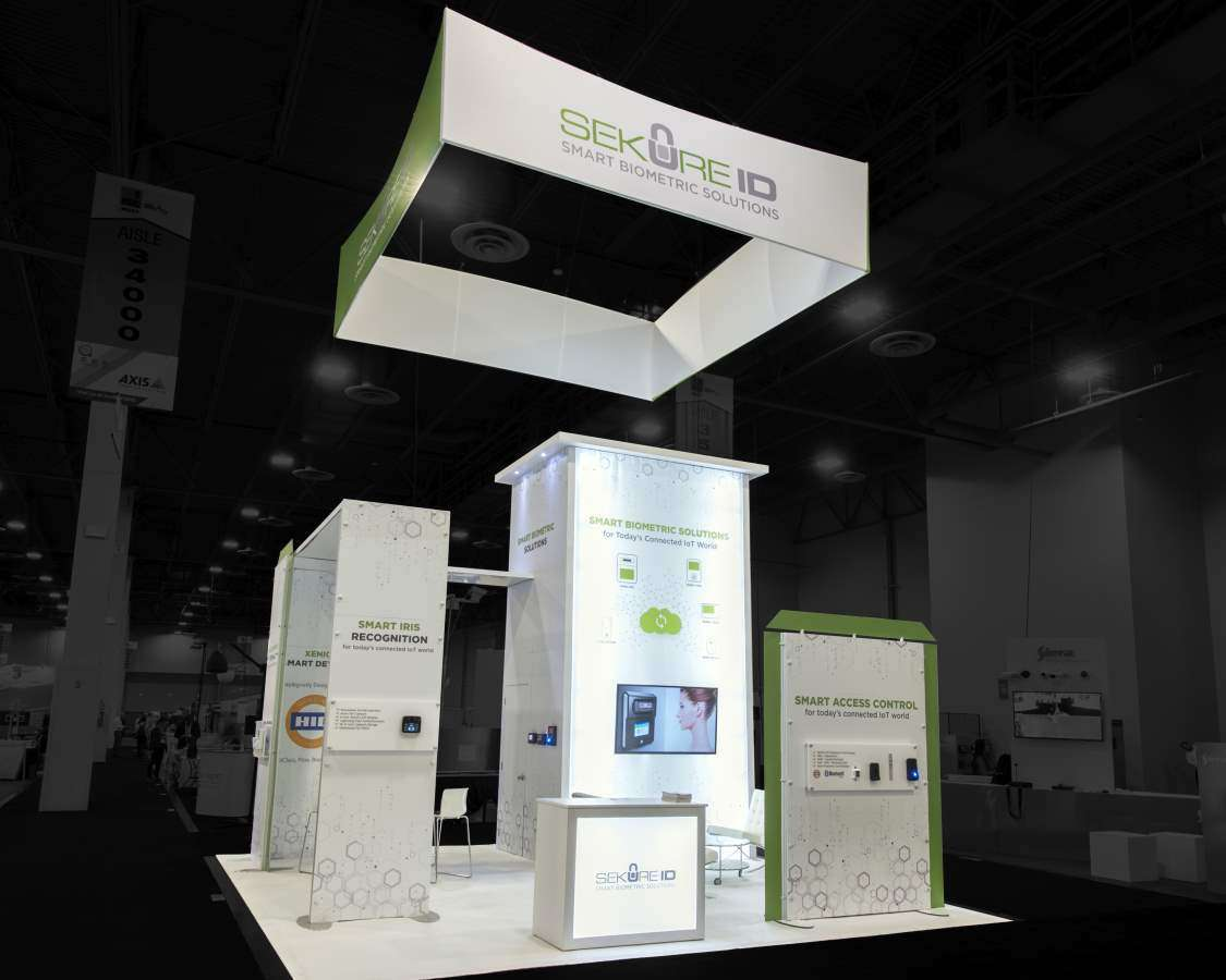 20x20 Custom rental booth at ISC West, Las Vegas