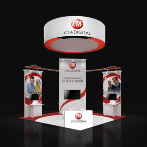 Amaze your audience with impressive 20X20 rental booths for trade shows