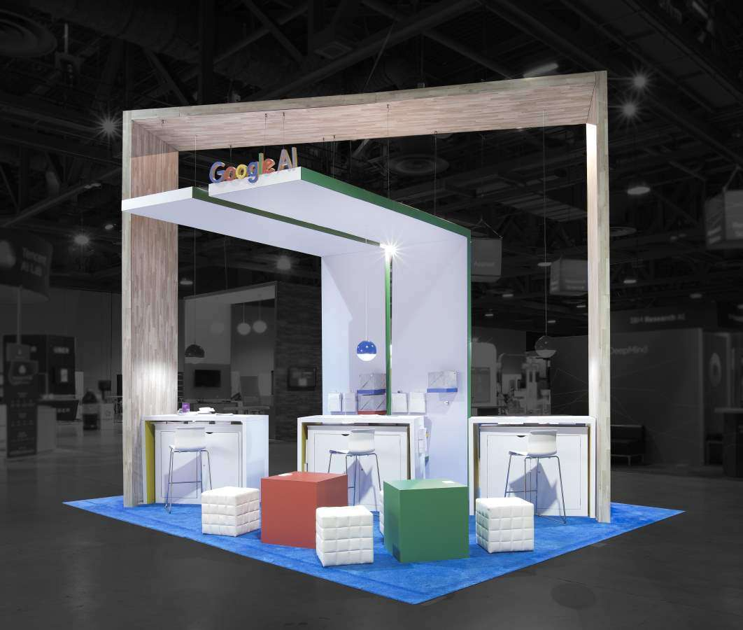 15'X20' Custom Rental Booth for Google at NIPS, Long Beach