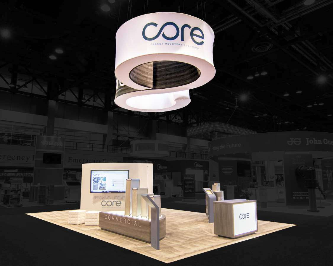 30x30 Trade Show Booth at AHR Expo, Chicago