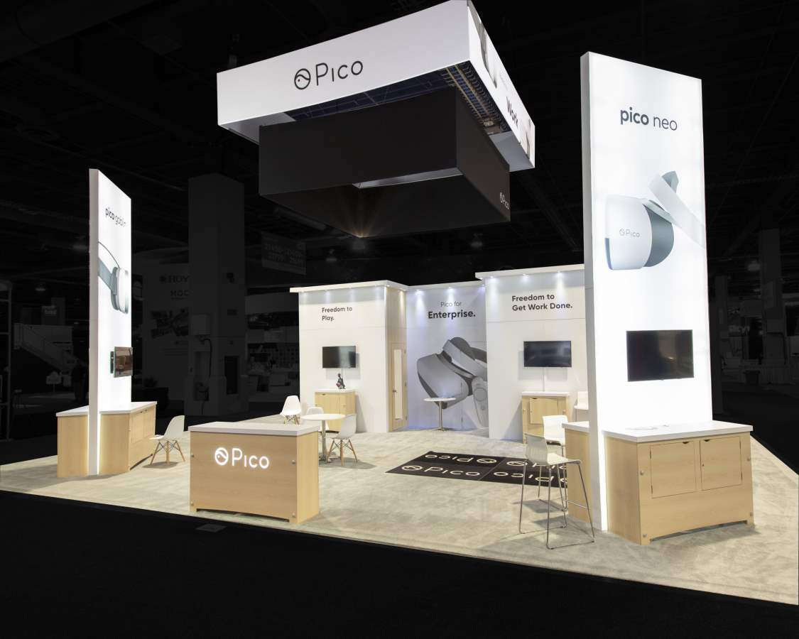 30x40 Custom Exhibition Booth at CES Las Vegas