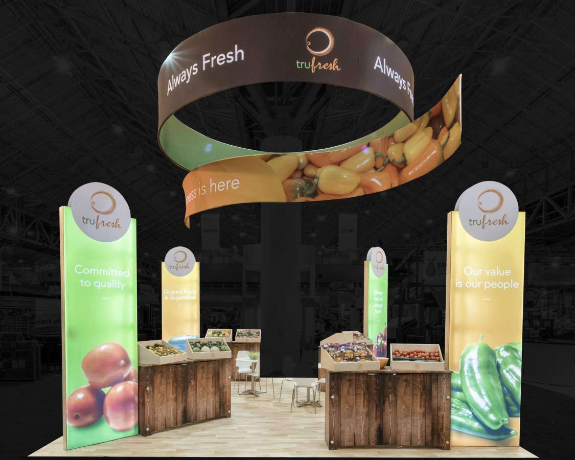 Tru Fresh 20x30 trade show exhibit at PMA Fresh Summit