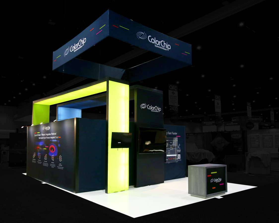 20x30 rental booth at OFC, San Diego