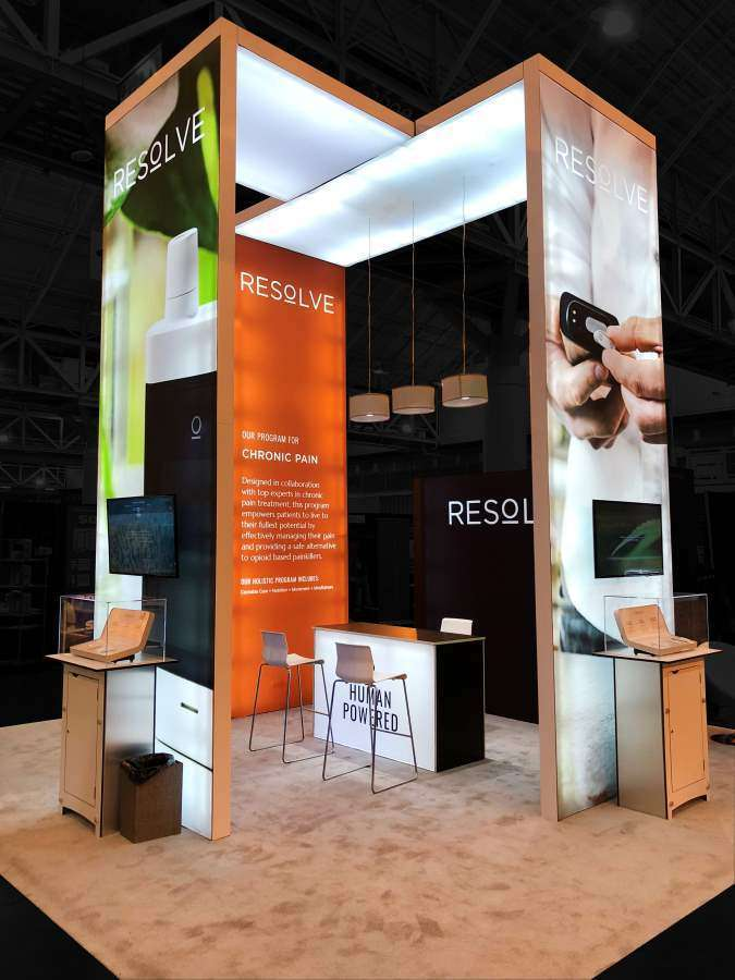 20x20 rental booth in New Orleans