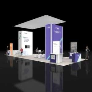 20x50 Exhibit Booth Rentals