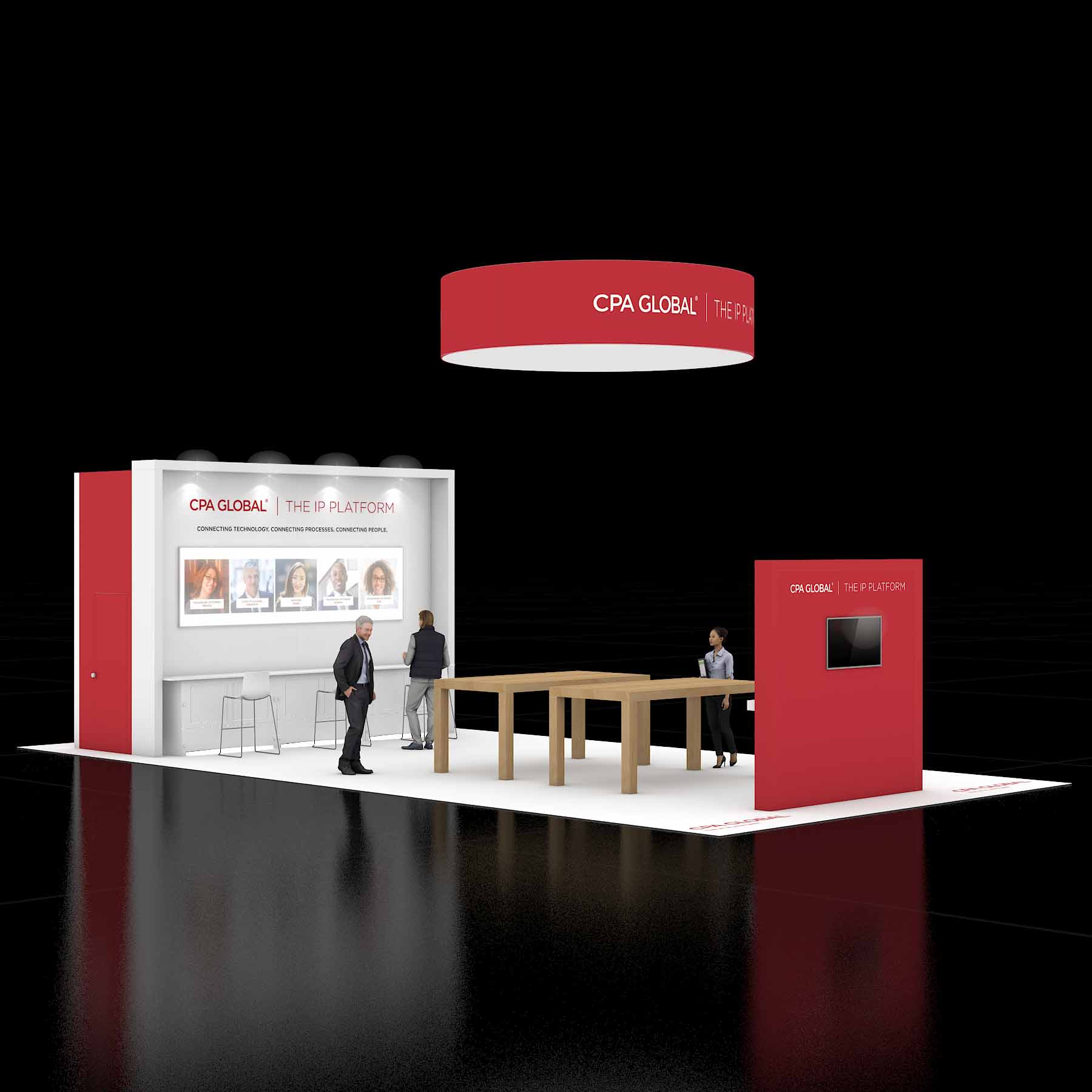 20X40 Trade Show Booth Rental